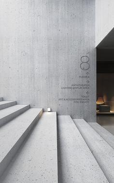 Concrete Architects on Behance Wayfinding Signage, Signage Design, Architecture Design, Wall Design, House Design, Home Interior Design, Interior And Exterior, Environmental Design, Halle