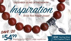 A beautiful healing gemstone to bring Inspiration.  Allow the energy of our Brick Red Poppy Jasper bracelet to inspire and motivate you to reach your goals and dreams! Red Poppy Jasper | inspiration | healing gemstones | healing jewelry | healing bracelet | yoga jewelry | stone of the month | natural gemstones | zen jewelz | zenjen | handcrafted in NJ