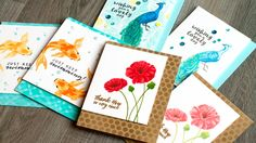 cardmaking video tutorial: Second Generation Stamp Layering by Jennifer MacGuire ... useful tips ...some stencil techniques too ..