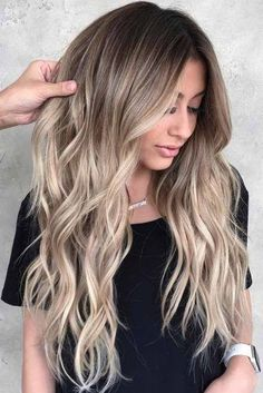 Long Layers With Dirty Blonde Ombre Hair # Long . Long Layers With Dirty Blonde Ombre Hair # Longhair ❤️ Dir … Balayage Hair Ombre, Blond Ombre, Brown Blonde Hair, Ombre Hair Color, Baylage Blonde, Brown Blonde Balayage, Ombre Highlights, Blonde Hair With Dark Roots, Blonde Highlights On Dark Hair All Over