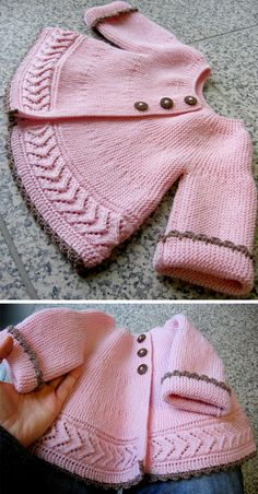 knitting pattern jacket garter stitch lace free in Jacket in Garter Stitch Lace Free Pattern Free Knitting PatternYou can find Baby cardigan and more on our website Knitted Baby Cardigan, Knit Baby Sweaters, Knitted Baby Clothes, Baby Knits, Knitted Bags, Sweater Knitting Patterns, Knit Patterns, Baby Knitting Patterns Free Cardigan, Knitting For Kids