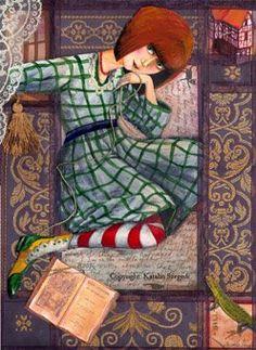 Alice in Wonderland by katalin Szegedi Alice In Wonderland 1, Alice In Wonderland Illustrations, Adventures In Wonderland, John Tenniel, White Rabbits, Lewis Carroll, Through The Looking Glass, Art Dolls, Illustrators