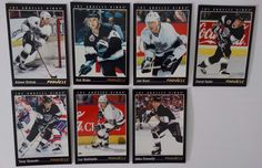 1993-94 Pinnacle Los Angeles Kings Team Set of 7 Hockey Cards #LosAngelesKings