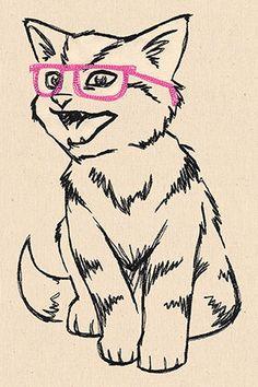 Hip Kitty | Urban Threads (all 3 sizes)