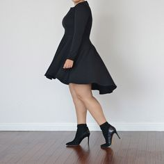 HIGH LOW SKATER DRESS | Girl With Curves