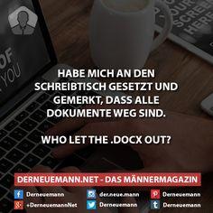 Dokumente sind weg #derneuemann #humor #lustig #spaß #docx