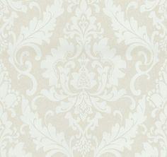 Papel pintado vintage beige y crema PDW91335150