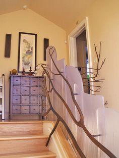 Custom Branch Stair Railing Design By Melinamade Interiors, San Francisco