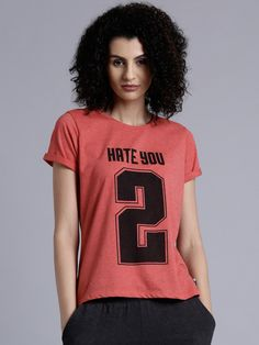 Kook N Keech Women Red Printed Round Neck T shirt is very fashionable and  cool t shirt for girls available in all the sizes now.