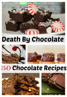 50 Chocolate Recipes- Perfect for every day desserts and Valentine's Day  - Eat Sleep Travel Repeat
