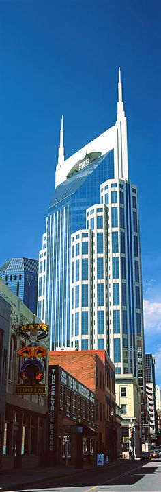 Photography Photograph - Bellsouth Building In Nashville by Panoramic Images