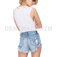 Levi Shorts Wrangler Cut Offs High waisted denim by DENIMxDENIM