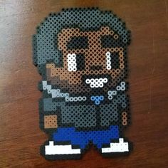 Troy Barnes Community perler beads by vicious0018