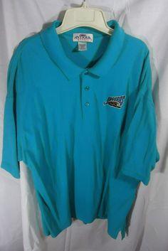 Men Antigua Sports Jacksonville Jaguars Polo Shirt Short Sleeve Size XXL #AntiguaSport #PoloRugby