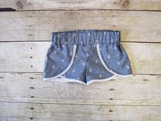 Coachella Shorts 6m 12years Chambray by TheWrightAccessories