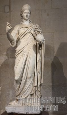 Juno Roman Goddess Statue Louvre Museum Paris stock photo