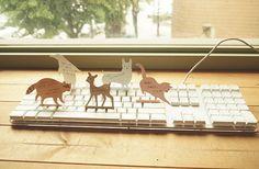 Animal Keyboard Memopad / 35 sheets / Notepad / by DubuDumo