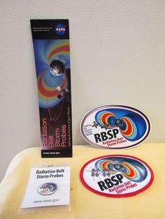 NASA RBSP Radiation Belt Storm Probes Mission Patch, Sticker, Pin, Bookmark