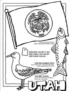 Utah State Symbol Coloring Page By Crayola Print Or Color Online