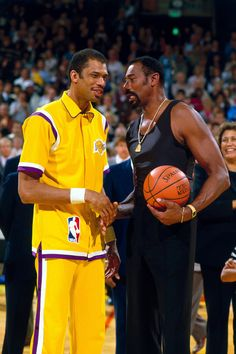 Kareem Abdul-Jabbar and Wilt Chamberlain. The Two most dominant big men in NBA History.