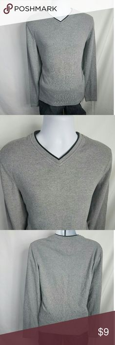 Faded Glory V Neck Long Sleeve Medium Cotton and Polyester Blend. SOFT! Small discoloration on the front of the shirt, please view all photos before purchase.  Chest Front - 21 Inches Shoulder to Hem - 26.5 Inches Faded Glory Sweaters V-Neck