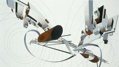 Detail: Zaha Hadid, Tatlin Tower and Tektonik Worldwind, acrylic and watercolors on cartridge, 73 1/4 x 38 inches. Image: Courtesy Zaha Hadid Architects