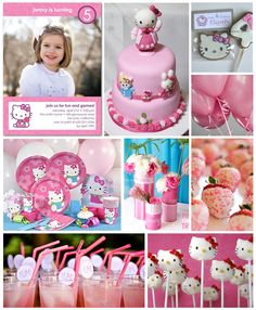 Hello kitty birthday party ideas - thanks @Tina Edwards  now we have to have a hello kitty party! LOL