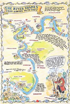River Thames Mapped by Paul Cox.