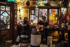 Traditional Irish Music at a pub in Dublin, Ireland