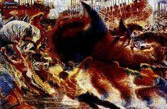 Umberto Boccioni, La città che sale