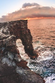 Hawaii | Volcanoes National Park | Holei Sea Arch