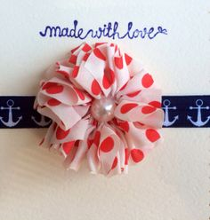Red White and Anchor Stretchy Headbandanchor by LibbyWynnSimply, $5.00