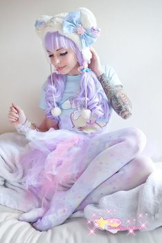 Tattoos are popular today but look a little off with the fashion of fairies. Fantastic inspiration for inked gals. | Kawaii Fashion | Pinterest