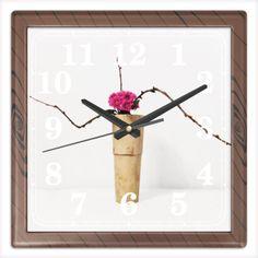 Часы Wood Clocks, Ikebana, Flower Arrangements, Wooden Clock