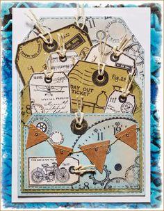 Tag pocket card by Jean using CI-428 & CI-431