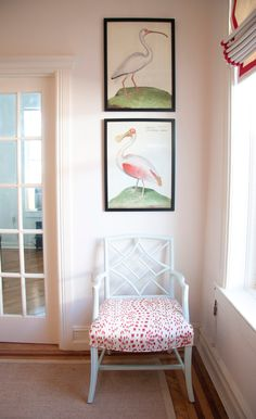 This is so sweet looking and I love the bird prints.  Brunschwig & Fils LES TOUCHES COTTON PRINT RED