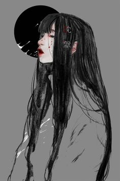 Ghost in the shell Kyoung Hwan Kim on ArtStation at Art Anime, Anime Kunst, Anime Art Girl, Sad Girl Art, Sad Girl Drawing, Art And Illustration, Illustrations, Pretty Art, Cute Art