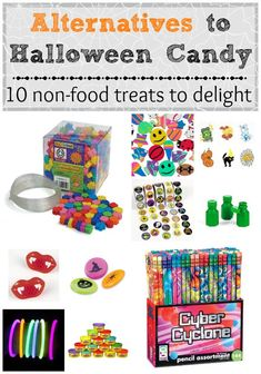 Alternatives to Halloween Candy -- 10 non-food treats to delight