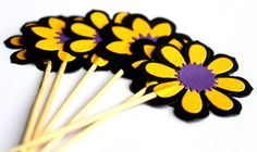 Party Cupcake Toppers,Wedding Cake Toppers,Birthday,Cupcake toppers,Flower Toppers,Baby shower on Etsy, $8.00