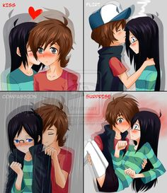 by Mgx0 at deviantart OMG I don't really don't really ship Dipper X Candy but this is too cute <3