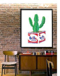 Brillo Kaktus Warhol Poster: Druckbare Datei 6 von TheOrangePress