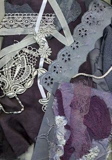 Boil black currents to make a beautiful vintage dusty purple colored dye for fabrics, lace, paper...