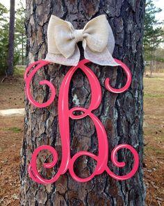 Monogram Initial door hanger,Letter B door hanger,Initial Wall Hanging, personalized door hanger, monogrammed door hanger, by Furnitureflipalabama on Etsy