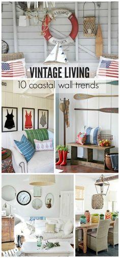 cityfarmhouse 10 Vintage Inspired Coastal Wall Trends http://cityfarmhouse.com/2015/05/10-vintage-inspired-coastal-wall-trends.html via bHome https://bhome.us
