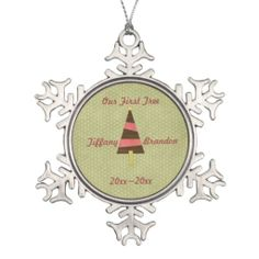 Our first tree customizable Christmas ornament