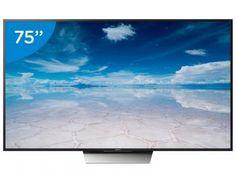 """Smart TV LED 75"""" Sony 4K/Ultra HD XBR-75X855D - Conversor Digital Wi-Fi 4 HDMI 3 USB"""