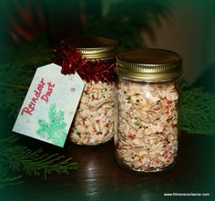 Our cute little 4oz Economy Jars (AA04-11C) are just perfect for holding Reindeer Dust...great for little hands! Come in a case of 24...the right number for most classrooms! #jar crafts #school gifts #christmas crafts for kids