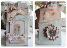 Gorgeous embellished tags