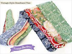 ScrapBusters: Vintage Style Headband Ties   Sew4Home