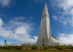 The Hallgrímskirkja (Icelandic pronunciation: [ˈhatlkrimsˌcʰɪrca], church of Hallgrímur) is a Lutheran (Church of Iceland) parish church in Reykjavík, Iceland. At 74.5 metres (244 ft), it is the largest church in Iceland and the sixth tallest architectural structure in Iceland after Longwave radio mast Hellissandur, the radio masts of US Navy at Grindavík, Eiðar longwave transmitter and Smáratorg tower.[1] The church is named after the Icelandic poet and clergyman Hallgrímur…